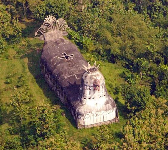 """Mysterious And Bizarre, Abandoned """"Chicken Church"""" In"""