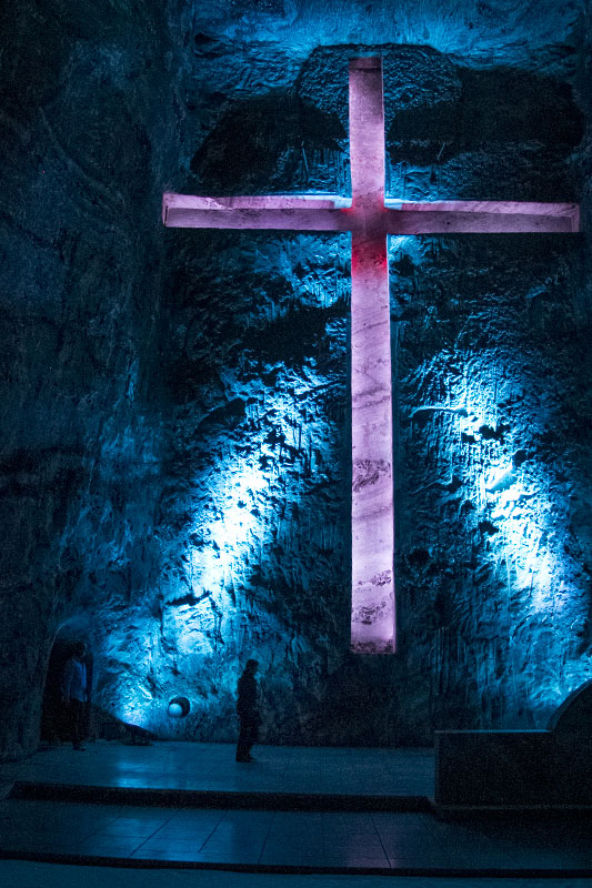 salt cathedral in Zipaquirá, Columbia 16