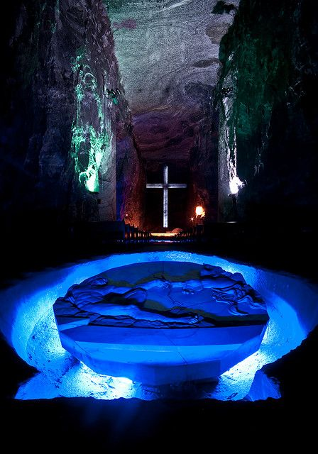 salt cathedral in Zipaquirá, Columbia