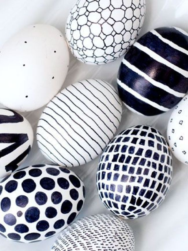 fun ways to dye easter eggs, black