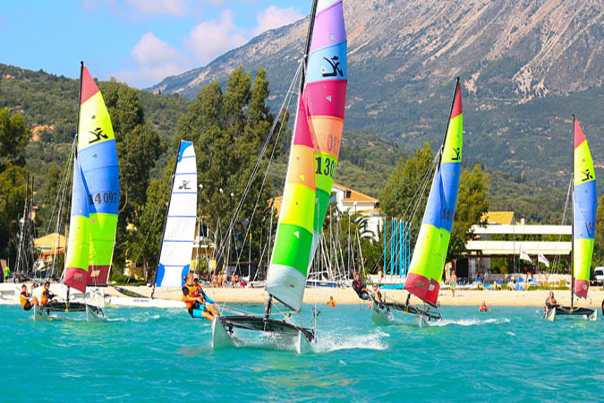 the most popular windsurfing spot in Greece, Vassiliki beach