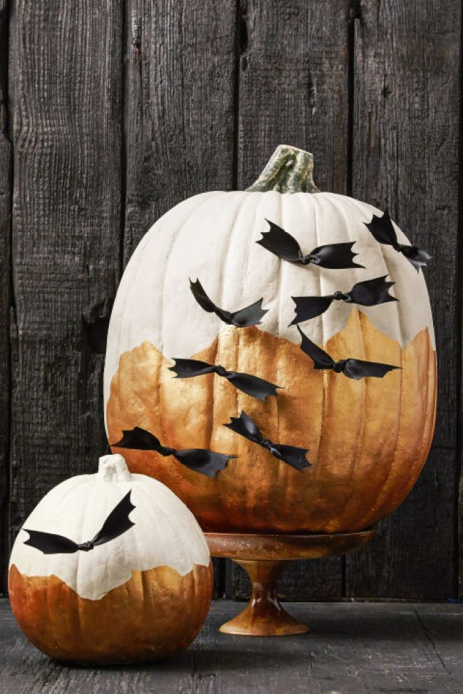 best halloween no carve pumpkin decor ideas 3