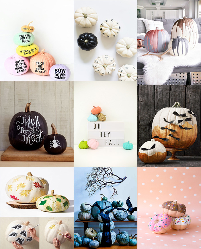 best halloween no carve pumpkin decor ideas 6