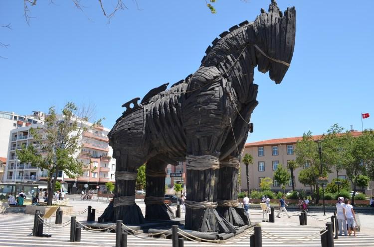 the Trojan horse used in the Brad Pitt Movie