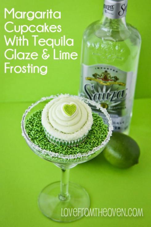 pretty margarita cupcake recipe for the VDay