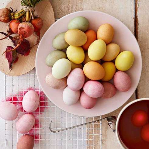 how to color easter eggs with natural colors