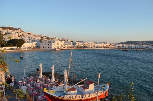 interesting things to see in Greek island Mykonos, taverna