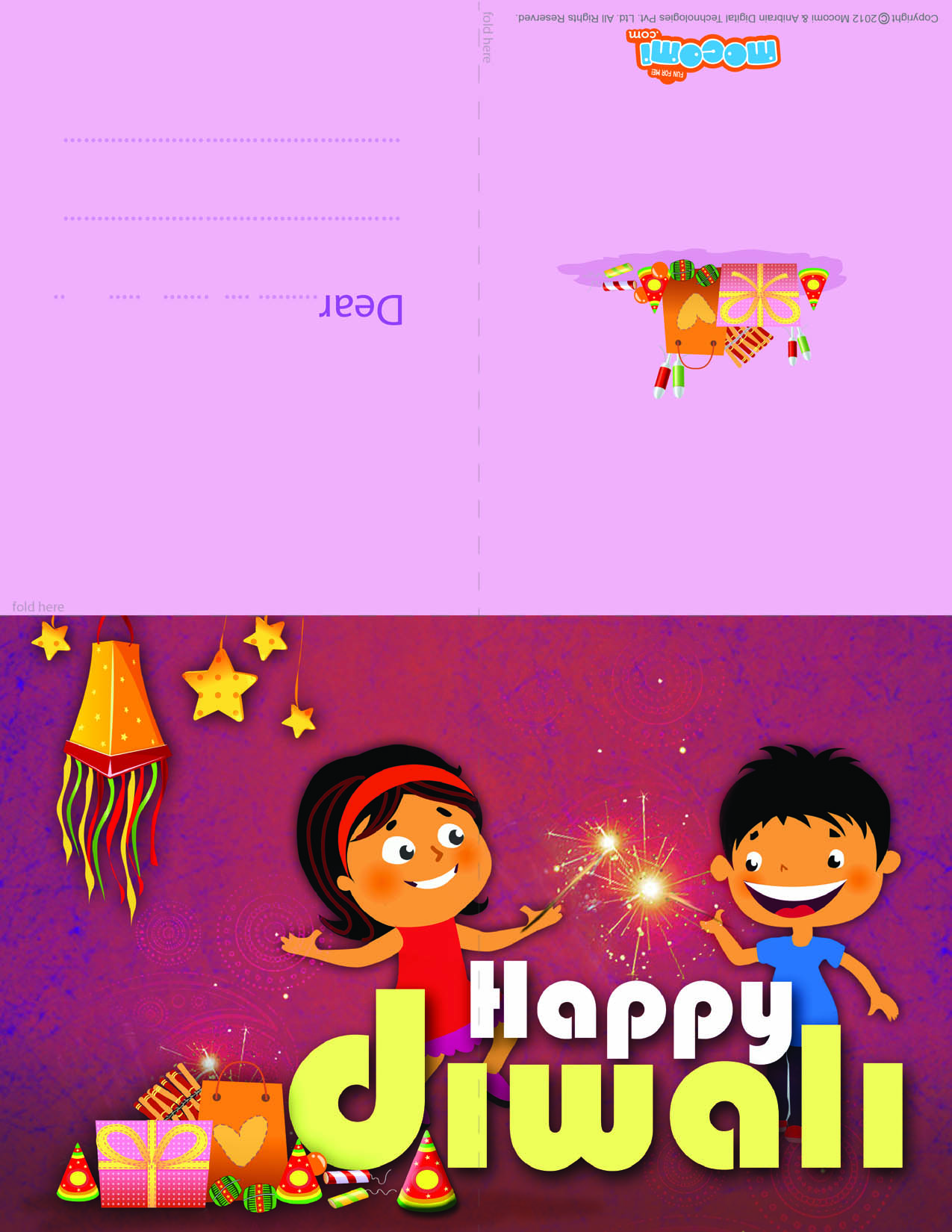 Happy Diwali Diwali Greeting Card For Kids Mocomi