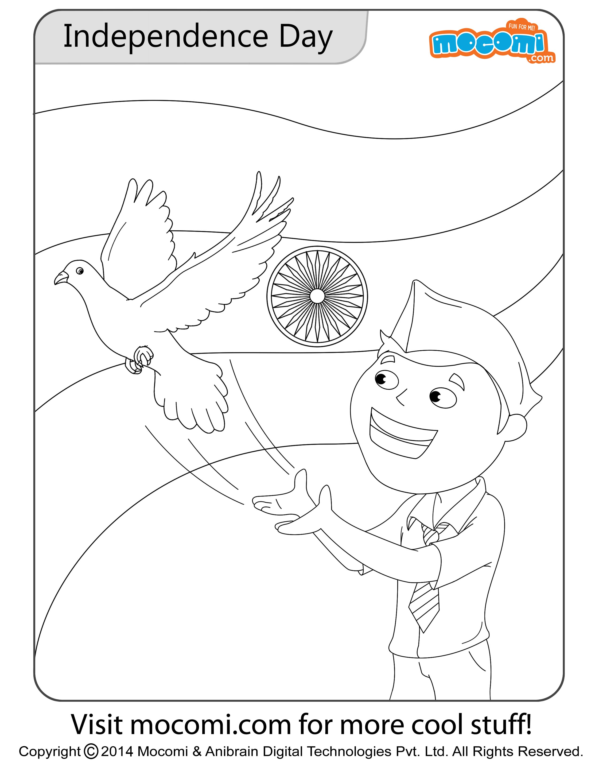 Independence Day Colouring Page