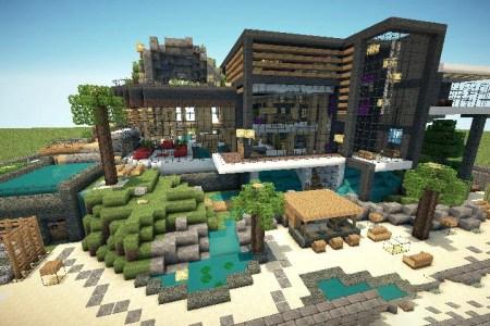 Minecraft Spielen Deutsch Minecraft Redstone Huser Bild - Minecraft redstone hauser maps