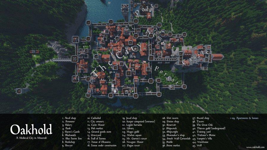 Map City Minecraft World Map Full Maps - Mapas para minecraft 1 10 2
