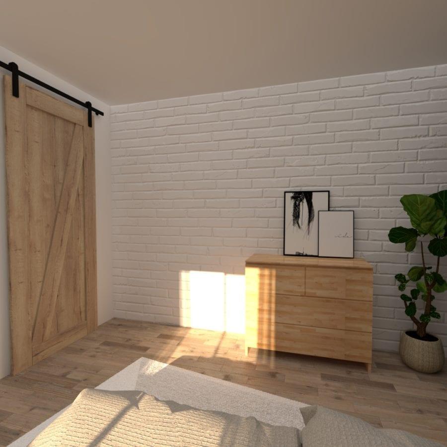 Image montrant la modélisation 3D d'une chambre éco responsable