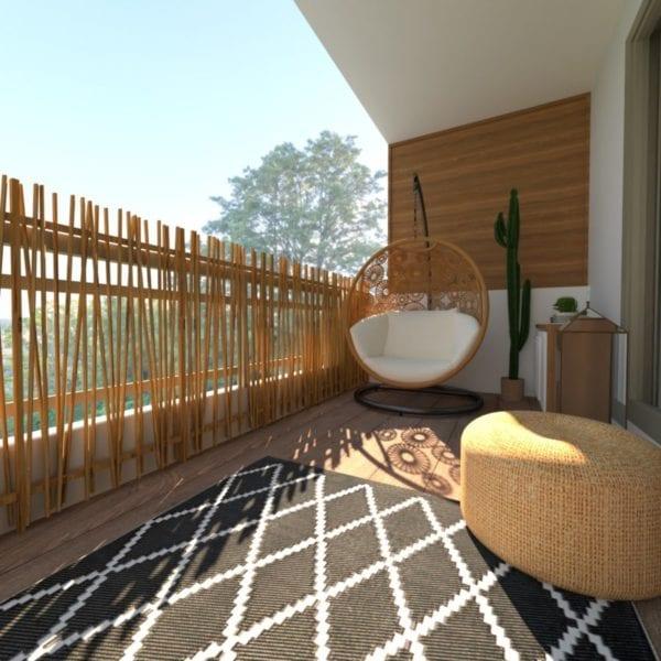 Image montrant la modélisation 3D d'une terrasse