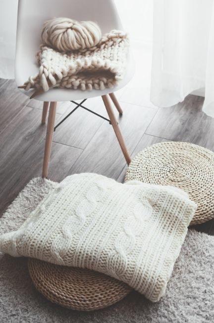 Photo représentant les matières du style scandinave