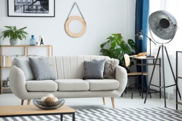 Image montrant un Salon style industriel