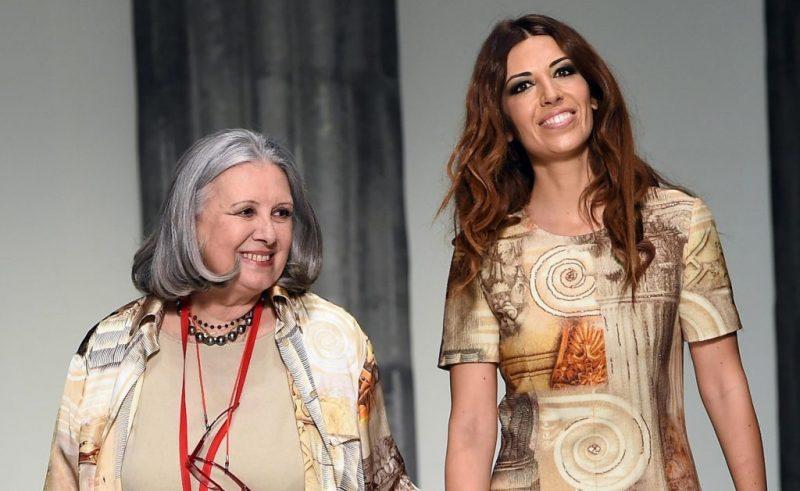 Dizionario della Moda Mame: Laura Biagiotti. La stilista con la figlia Lavinia.
