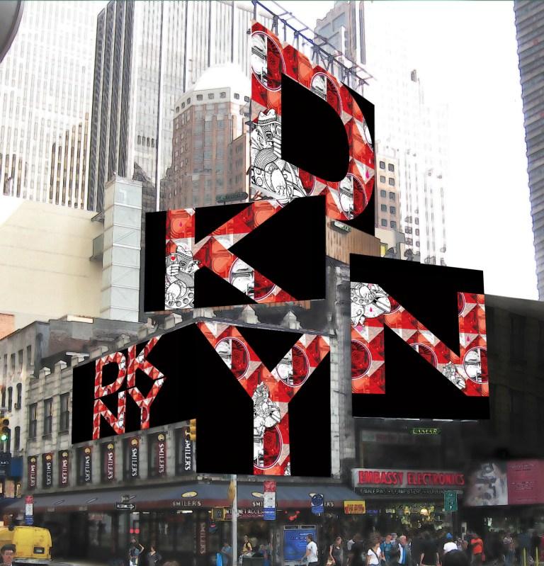 Donna Karan Installazione a Time Square