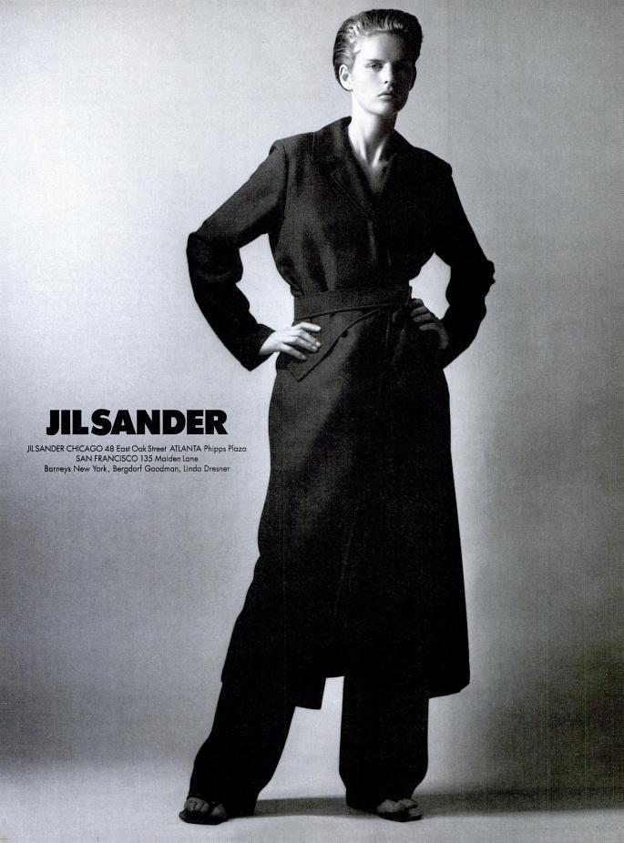 Jil Sander Collezione primavera/estate 1977: Stella Tennant ritratta da David Sims