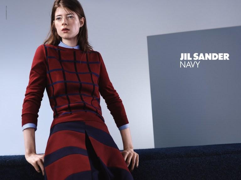 Jil Sander Jessica Burley per la campagna pubblicitaria autunno/inverno 2015