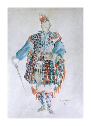 Dizionario della Moda Mame: Missoni. Bozzetto 1 per Lucia di Lammermoor.