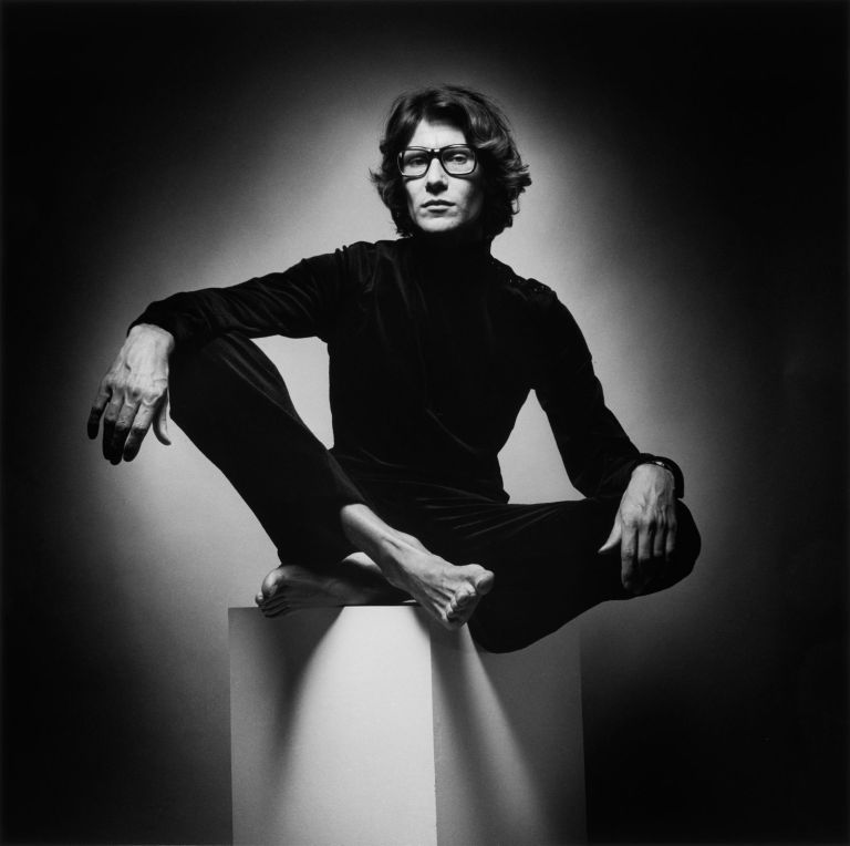 Yves Saint Laurent, scatto di Jeanloup Sieff, 1971