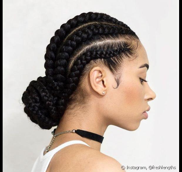 Penteados para cabelo crespo com tranças