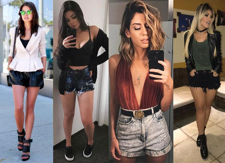 Looks para Balada com shorts