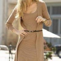 Hırkalı son moda triko elbiseler