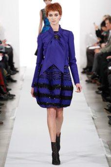 Iris van Berne - Oscar de la Renta 2014 Sonbahar-Kış Koleksiyonu