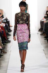 Leomie Anderson - Oscar de la Renta 2014 Sonbahar-Kış Koleksiyonu