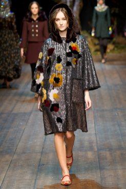 Josephine Le Tutour - Dolce & Gabbana 2014 Sonbahar-Kış Koleksiyonu