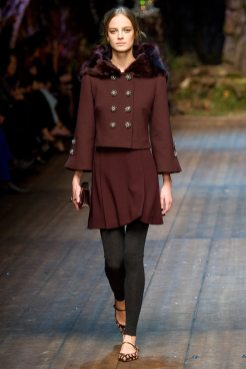 Ine Neefs - Dolce & Gabbana 2014 Sonbahar-Kış Koleksiyonu