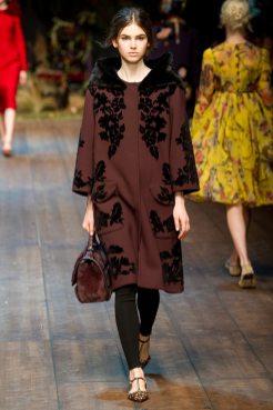 Irma Spies - Dolce & Gabbana 2014 Sonbahar-Kış Koleksiyonu