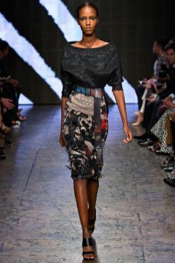 Leila Nda - Donna Karan Spring 2015