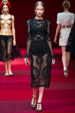 Hollie-May Saker - Dolce & Gabbana Spring 2015 Koleksiyonu
