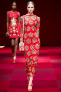 Kristina Petrosiute - Dolce & Gabbana Spring 2015 Koleksiyonu