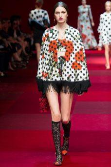 Zoe Huxford - Dolce & Gabbana Spring 2015 Koleksiyonu