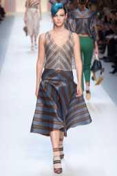 Vittoria Ceretti - Fendi Spring 2018 Ready-to-Wear