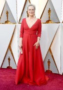 Meryl Streep - Elbise: Christian Dior Haute Couture, Ayakkabı: Stuart Weitzman, Takılar: Fred Leighton, Çanta: Christian Louboutin