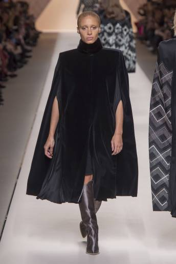 Adwoa Aboah - Fendi Fall 2018 Ready-to-Wear
