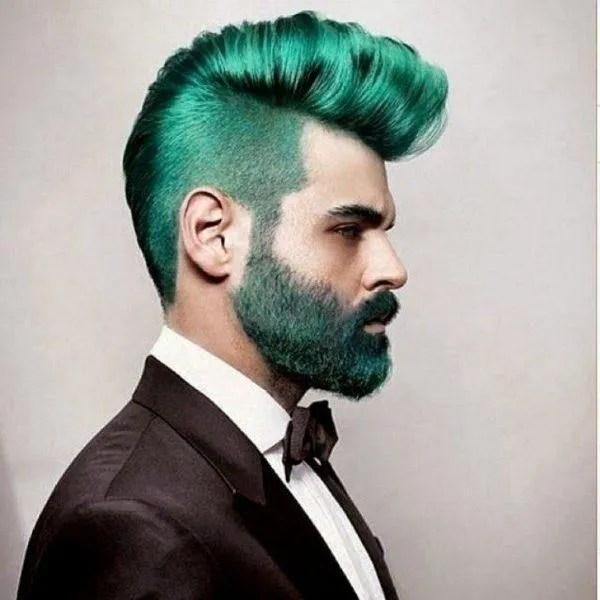 colores-para-el-cabello-hombres-barba-verde