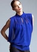 perdeli tül mavi bluz
