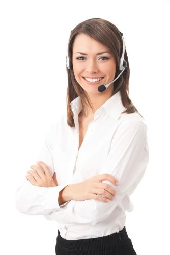 woman headset