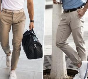 calça clara masculino look