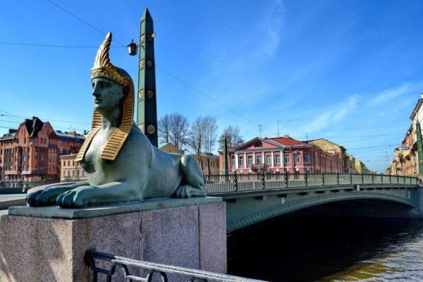 Египетский мост в Санкт-Петербурге. Фото