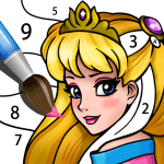 Texture Color by Number: Beautiful Princess 1.0.2 Mod Download – for android