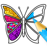 Glitter Butterfly Coloring – Learn Colors 1.1 Mod Apk Download – for android
