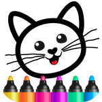 Download Bini Drawing for Kids! Learning Games for Toddlers  Mod Apk (unlimited money)