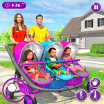Download New Mother Baby Triplets Family Simulator 1.2.0 Mod Apk (unlimited money)