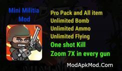 Mini Militia One shot kill Propack All store item Zoom 7x